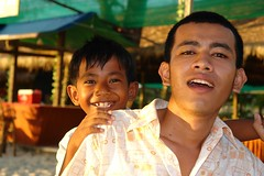 Kompong Som - Sandy Beach Bar - Chheng with friend (CharlesFred) Tags: travel sun holiday man sexy male men beach beautiful beauty sex relax asian fun happy sand asia cambodia kompongsom sihanoukville masculine relaxing handsome resort uomo mens asean homme uomini mannen kampuchea