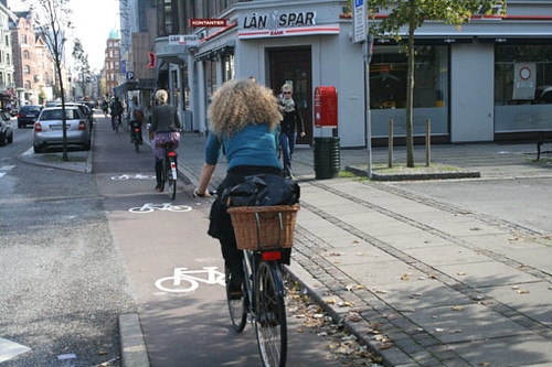 Bicycle lane, Copenhagen