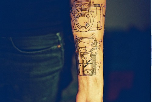 camera tattoo. camera diagrams