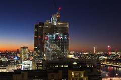London new skyline additions (Zibi_) Tags: london blackfriar bt tower bttower wembley stadium skyline urban city capital construction river thames sunset lights longexposure long exposure canon nightphotography photography southbanktower south bank bankside switchhouse building architecture