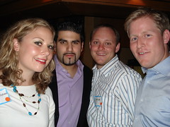 Stef, Kevin, Jeff and Matt (Helene Orange) Tags: reunion 10 year naperville nnhs