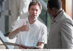 Director Kevin Macdonald works with Forest Whitaker. (foxsearchlightphotos) Tags: foxsearchlight lastkingofscotland