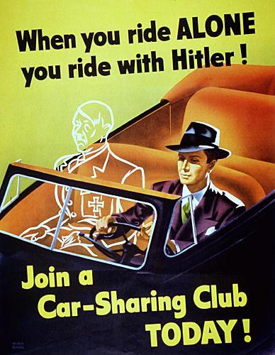 Hitler carpooling