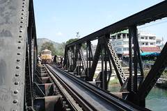 theres a train coming (kathches) Tags: river thailand kanchanaburi kwai