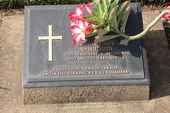 this is just one of the many graves l found of  soldiers from manchester (kathches) Tags: river thailand kanchanaburi kwai