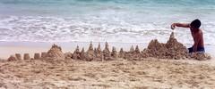 Adem the sand sculptor, Kailua, Oahu, Hawaii (ali eminov) Tags: adem beaches hawaiianbeaches kailuabeach oahu hawaii castles sandcastles boys islands hawaiianislands
