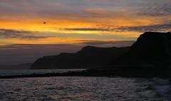 sunset west bay (lovestruck.) Tags: sunset sea cliffs devon sillhouette westbay southwestcoastpath specnature challengeyouwinner