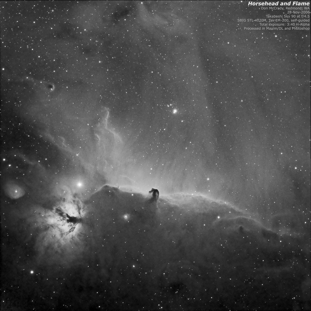 Horsehead and Flame (H-Alpha)