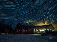 Skwentna Roadhouse (akphotograph.com) Tags: skweetnaroadhouse stars startrails alaska winter