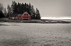 red house (eva8*) Tags: red house photoshop coast maine lookatme boothbay manipulate eva8