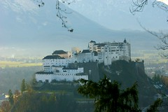 a birthday stroll with quite a view (lunaryuna) Tags: salzburg austria birthdaywalk kapuzinerberg hill stroll panoramicviews landscape castle mountains atmosphericperspective hohensalzburg architecture building lightmood winter season seasonalbeauty