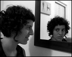 Reflection (Shemer) Tags: portrait bw selfportrait reflection me photoshop self mirror autoportrait abigfave simonsaysreflection