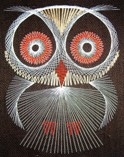 AND he can make string art owls??