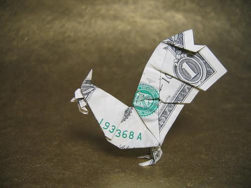 Петух из денег