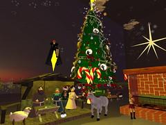 Second Life BB 41 (Gary Hayes) Tags: secondlife bigbrother housemates xmastree challenges endemol muve environmentdesign virtualrealitytv tvformat
