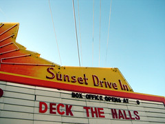 deck the halls at the sunset drive in