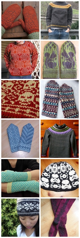 stranded colorwork kal - random samplings of gorgeous knitting