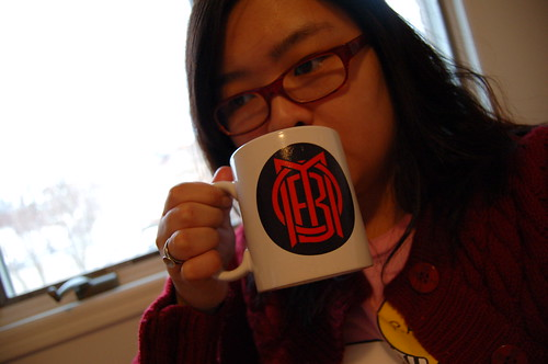 January 21, 2007- Drinking tea, watching football. . .