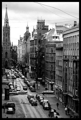 Gertrudes street in Riga
