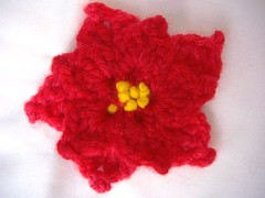 Pointsettia Crochet Flower