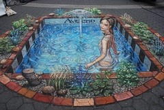 DSC_0199 (pavementpicasso) Tags: nyc ny newyork swimming unionsquare fountainofyouth skincare julianbeever aveeno pavementpicasso