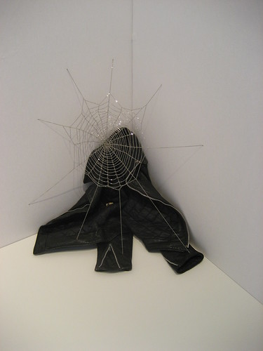 Jim Hodges spiderweb chain sculpture at CRG Gallery
